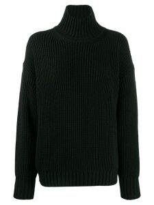 MSGM turtleneck ribbed jumper - Black