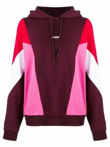 MSGM colour-block hoodie - Red