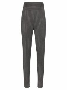 Alexandre Vauthier high-waisted pinstripe trousers - Grey