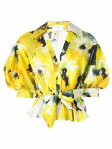 Marchesa floral print blouse - Yellow