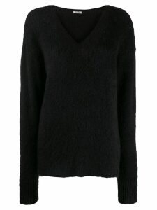 Miu Miu mohair v-neck jumper - Black