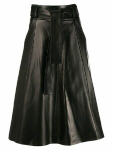 Drome tie waist flared skirt - Black