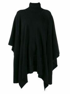 Maison Margiela draped knitted poncho - Black