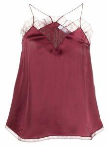 IRO Berwyn lace trim camisole - Red