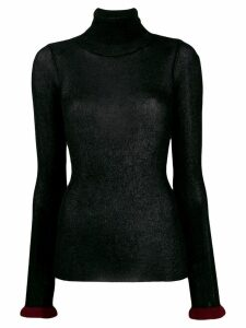 Semicouture roll neck glitter jumper - Black