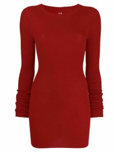 Rick Owens ribbed round neck sweater - Red