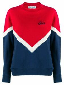 Être Cécile chevron sweatshirt - Red
