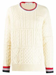 Golden Goose stripe detail sweater - NEUTRALS
