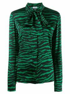 P.A.R.O.S.H. zebra print blouse - Green