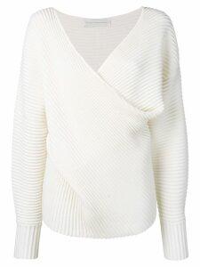 Victoria Victoria Beckham drape front sweater - White