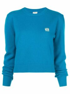 Loewe embroidered logo sweater - Blue