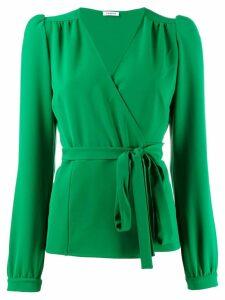 P.A.R.O.S.H. tie waist blouse - Green