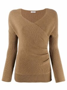P.A.R.O.S.H. wrapped front jumper - Brown