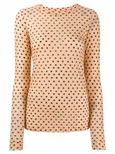 Forte Forte polka-dot T-shirt - NEUTRALS