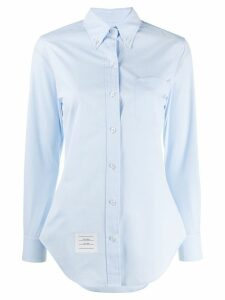 Thom Browne long-sleeve poplin shirt - Blue