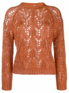Forte Forte open-knit jumper - ORANGE