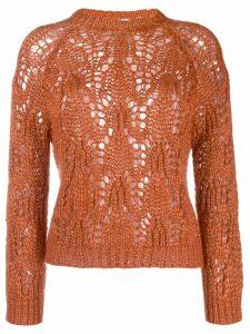 Forte Forte open-knit jumper - Orange