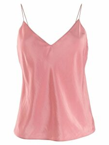 Theory V-neck slip top - PINK