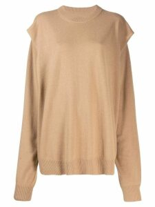 Maison Margiela split seam jumper - Brown