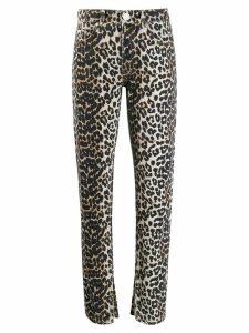 GANNI leopard slim-fit jeans - NEUTRALS