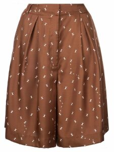 Tibi Ant polka dot shorts - Brown