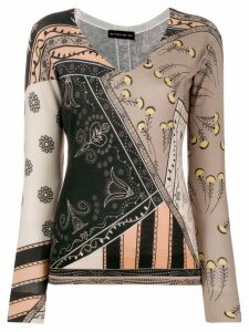 Etro mixed print knitted jumper - NEUTRALS