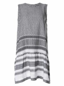 Cecilie Copenhagen patterned sleeveless dress - Black