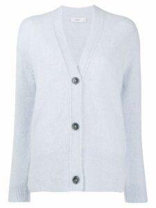 Closed knitted button-up cardigan - Blue