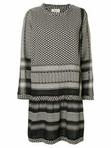Cecilie Copenhagen long-sleeve patterned dress - Black