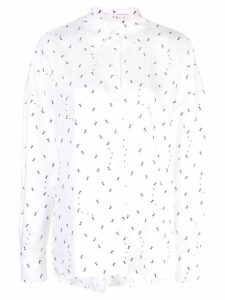 Tibi ant polka dot blouse - White