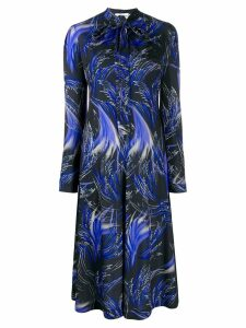 Givenchy wave print midi shirt dress - Black