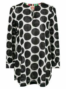 Le Sirenuse macro polka-dot blouse - Black