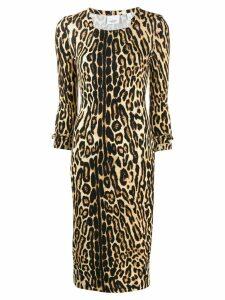 Burberry leopard print fitted dress - Neutrals