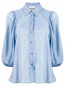 Ganni floral brocade shirt - Blue
