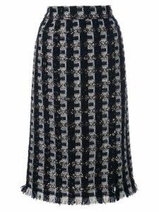 Oscar de la Renta tweed pencil skirt - Black