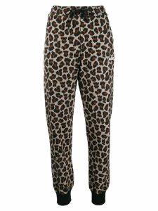MSGM leopard print track pants - NEUTRALS