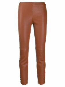 Theory panelled trousers - Brown