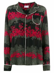 Red Valentino Dreaming Peony-print shirt - Black