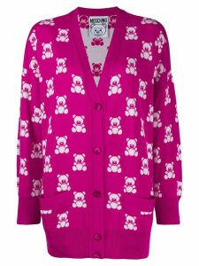 Moschino Teddy Bear pattern cardigan - Pink