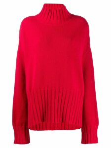 P.A.R.O.S.H. high standing collar jumper - Red