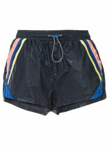 The Upside stripe detail sport shorts - Blue