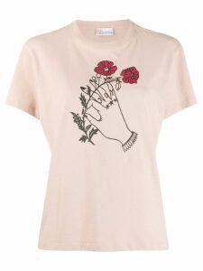 RedValentino x Poppy's Papercut's graphic print T-shirt - NEUTRALS