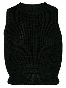 Cushnie sleeveless cropped top - Black