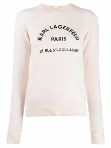 Karl Lagerfeld Address Logo jumper - PINK
