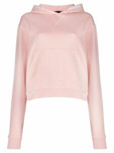 Karl Lagerfeld embroidered logo hoodie - PINK
