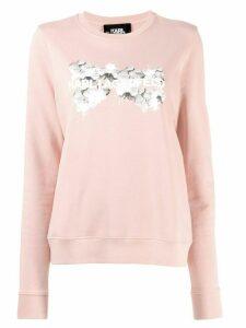Karl Lagerfeld orchid logo sweatshirt - PINK