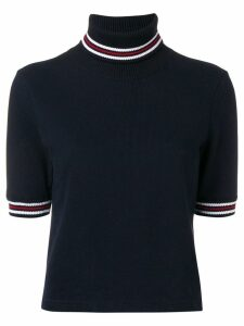 Thom Browne Cricket Stripe Navy Turtleneck - Blue