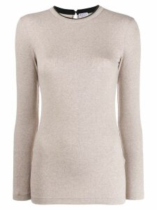 Brunello Cucinelli ribbed longsleeved jersey - Neutrals