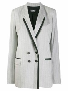 Karl Lagerfeld tailored double-breasted jacket - Grey
