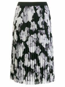 Karl Lagerfeld orchid print midi skirt - Grey